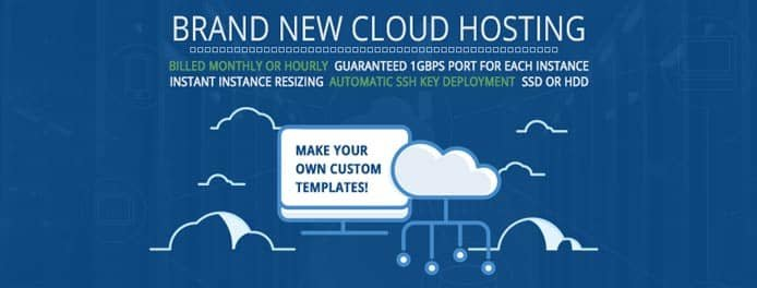 Graphique promotionnel de la plateforme cloud d'Hostwinds