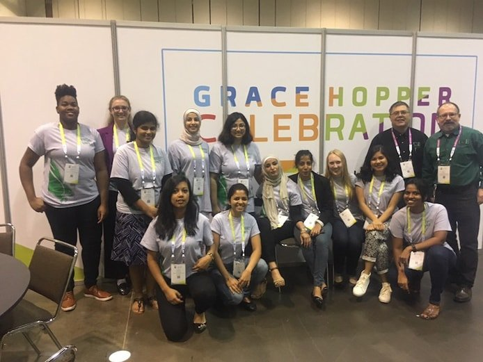 Φωτογραφία μαθητών στο Grace Hopper Celebration of Women in Computing